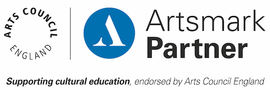 Artsmark Partner logo. Text reads supporting cultural education, endorsed by Arts Council England