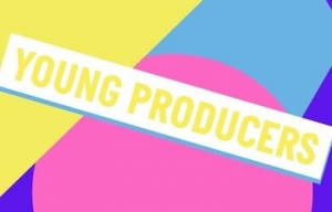 Young Producers logo across a blue, yellow, pink and purple shaped background.
